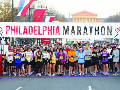 Philly half-marathon.