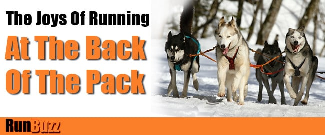 slow runner - joys of running at the back of the pack