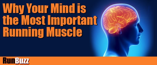 most important muscle for running:brain