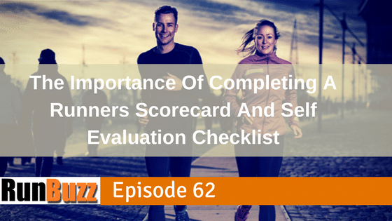 Runner's Scorecard and Self Evaluation Checklist