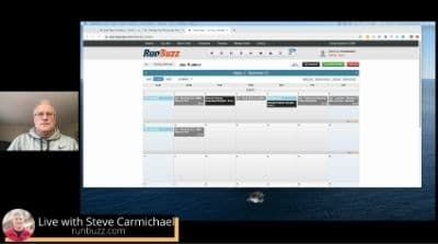 live session for training plans for runners workshop